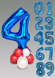 Red White and Blue Large Number Balloon Centrepiece