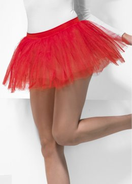 Shot Red Net Tutu Skirt