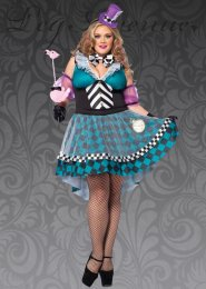 Leg Avenue Plus Size Mad Hatter Costume
