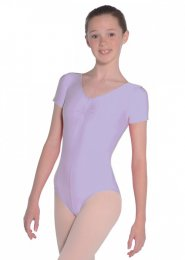 Lilac Jeanette Short Sleeve Dance Leotard