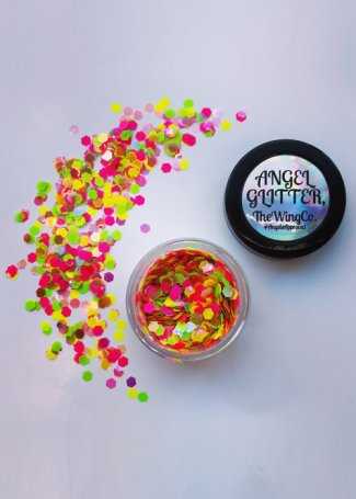 Rainbow Wave Neon MultiColour Iridescent UV Chunky Angel Glitter