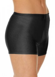 Black Hot Pants Lycra Dance Shorts