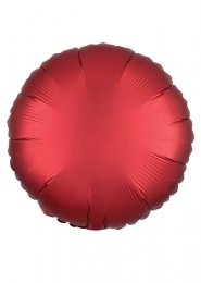 Inflated Red Sangria Satin Luxe Circle Helium Balloon