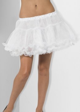 Womens White Fancy Dress Petticoat