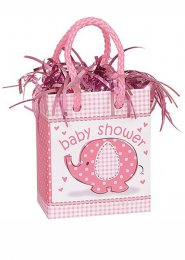 Pink Baby Shower Gift Bag Balloon Weight