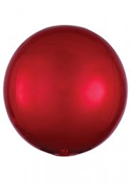 Inflated Metallic Red Orbz Helium Balloon