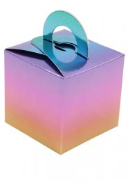Metallic Ombre Rainbow Box Balloon Weight Pack 8
