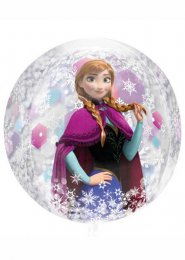 Inflated Disney Frozen Orbz Clear Helium Balloon