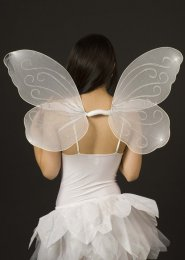 White Glitter Butterfly Angel Wings