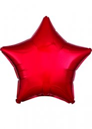 Metallic Red Star Helium Party Balloon