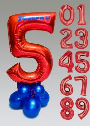 Personalised Large Super Mario Number Balloon Centrepiece
