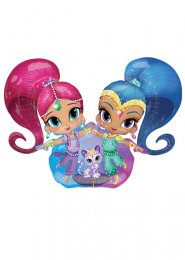 Inflated Shimmer & Shine Airwalker Helium Balloon