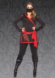 Womens Plus Size Ninja Warrior Costume