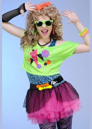 Childrens Totally Awesome 80s Girl Costume