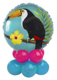 Bright Tropical Toucan Inflated Balloon Centrepiece