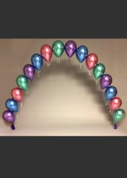 Chrome Balloon Pearl Arch