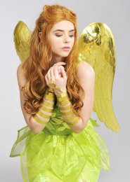 Large Metallic Gold Angel Wings