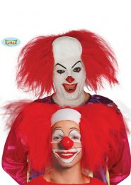 Pennywise Style It Clown Red Wig Bald Headpiece