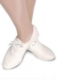 White Leather Suede Sole Jazz Shoes