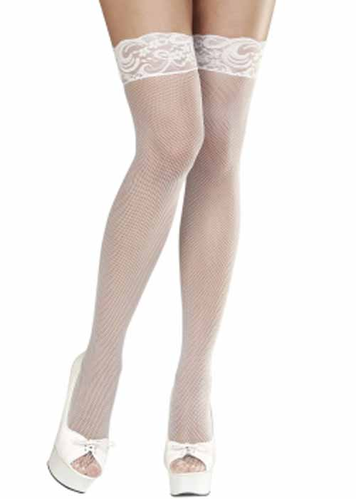 49cddc0bb5e Womens Plus Size White Fishnet Stockings 8003558012909