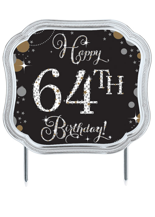 Add An Age Happy Birthday Cake Topper Decoration 101873 Struts