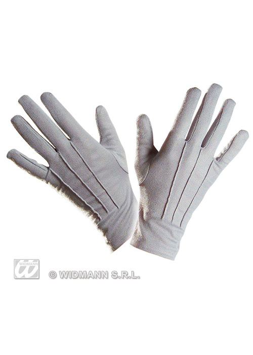 Victorian Gentlemans Short Grey Gloves