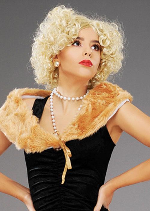 Blonde Flapper Wig 1920s Charleston Ladies Fancy Dress Womens Costume 20s Wig