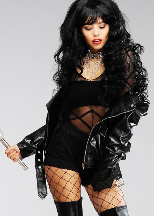 Cher Black Dress