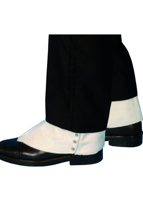 1920s Al Capone style fancy dress white gangster style white shoe spats...