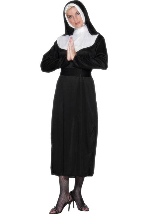adult size nun fancy dress costume. Black Bedroom Furniture Sets. Home Design Ideas