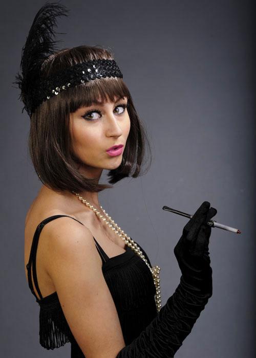 black sequin flapper feather headband black sequin flapper