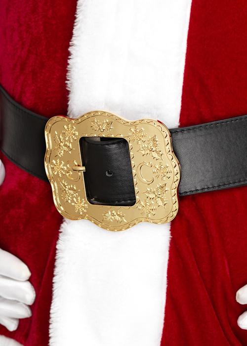 Deluxe Father Christmas Black Santa Belt