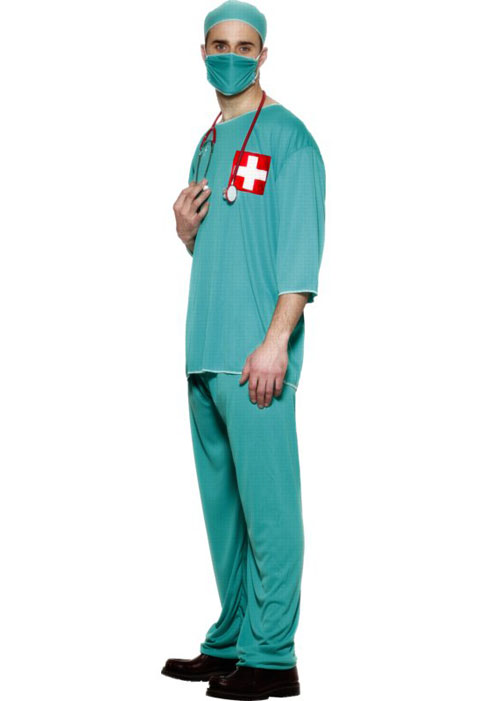 Surgical Scrubs Surgeon Costume