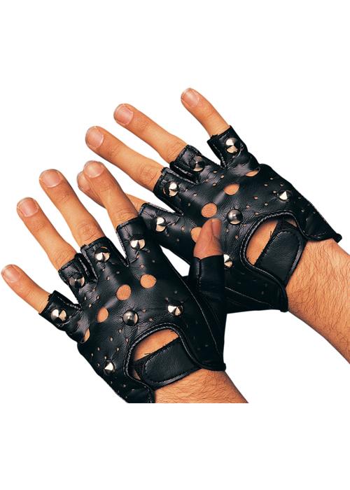 Leather glove fingerless