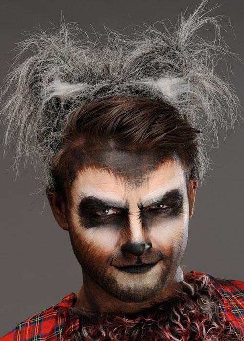 halloween grey fluffy werewolf ears on headband