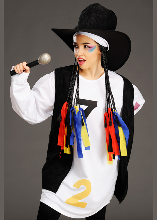 adult size 80s boy george style costume
