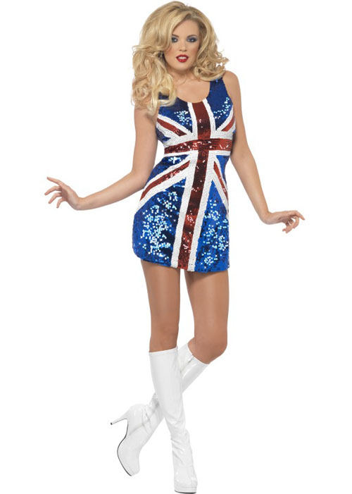 Rule Brittania Sequin Union Jack Dress [25001] - Struts Party ...