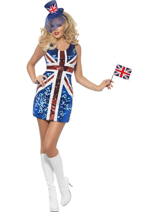 Brittania Sequin Union Jack Dress