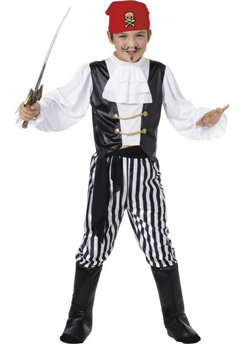 Kids Deluxe Pirate Boys Fancy Dress Costume 25761