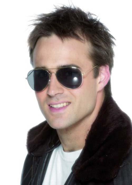 2d8b9e8652 Mens 70s Cop Aviator Sunglasses