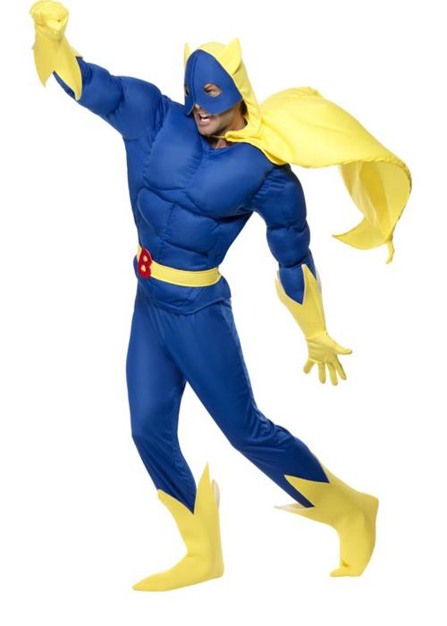 sc 1 st  Struts Fancy Dress & 80s Cartoon Bananaman Superhero Costume