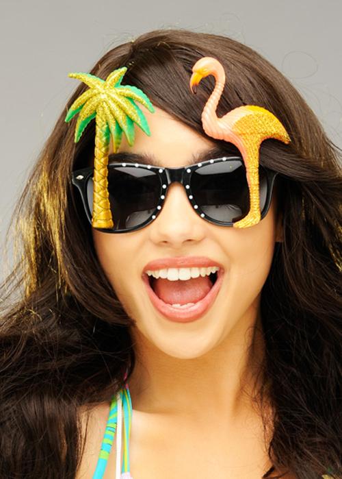 49ad8e95f7 Womens Hawaiian Glitter Flamingo Sunglasses Hawaiian Flamingo Sunglasses
