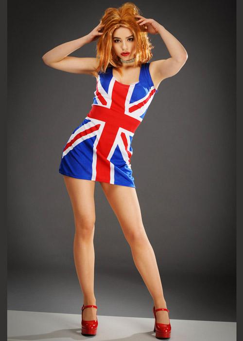 womens ginger spice union jack geri dress