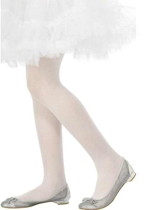 Kids White Tights Ba740 Struts Party Superstore