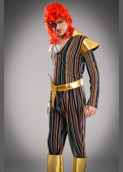 Mens 1970s Ziggy Stardust Style Costume