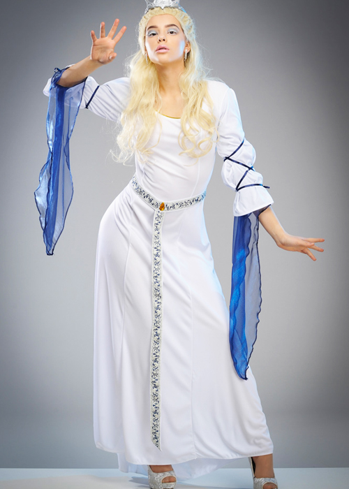 Adut Womens White Witch Narnia Style Dress DRESS ONLY  sc 1 st  eBay & Adut Womens White Witch Narnia Style Dress DRESS ONLY | eBay