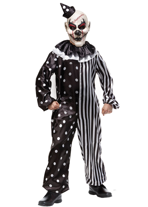sc 1 st  Struts Fancy Dress & Kids Halloween Black And White Killer Clown Costume