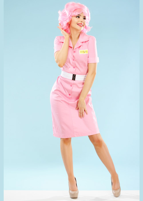 womens 1950s frenchy costume