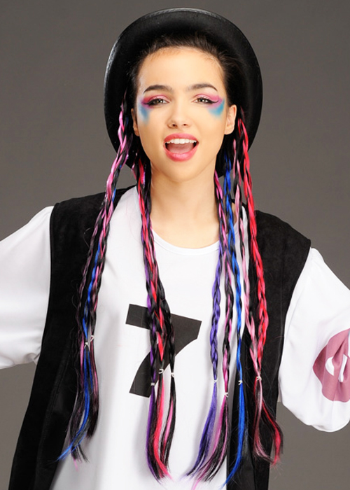 1980s Boy George Style Bowler Hat With Plaits