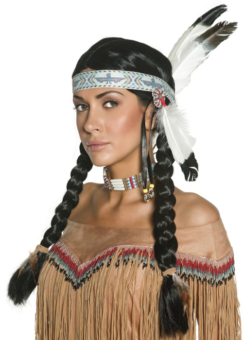Deluxe Braided Indian Squaw Wig DOES NOT INCLUDE BEADED HEADBAND | eBay